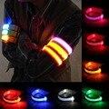 New Arm Warmer Belt Bike LED Armband LED Safety Sports Reflective Belt Strap Snap Wrap Arm Band Armband