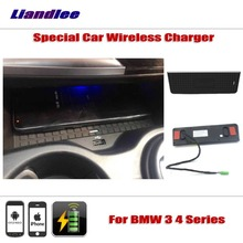 Liandlee For BMW 3 4 Series Special Car Wireless Charger Armrest Storage iPhone Android Phone Battery