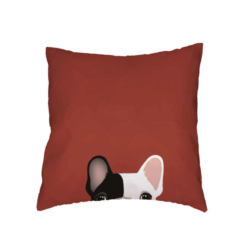 الملونة الكرتون نمط الحيوان بساطتها الكلب وسادة غطاء الثور جحر بلدغ زرزور الأسرة الديكور 45x45 سنتيمتر المخدة