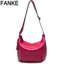 New Designer Fashion High Quality Leather Women's Designer Hobo Handbags Tassel Genuine Leather Cowhide Crossbody Messenger Bags