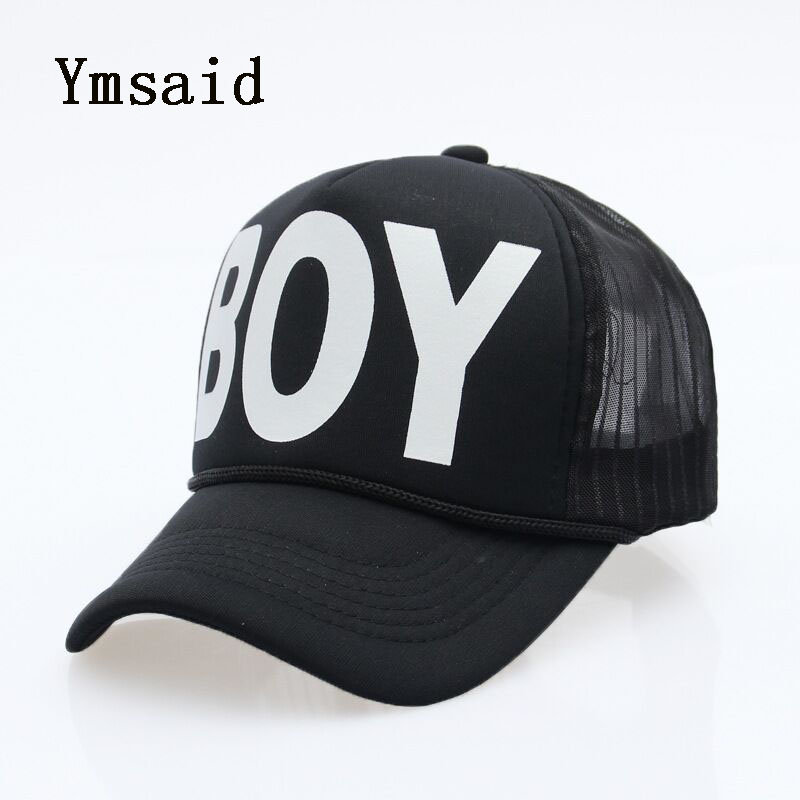 Ymsaid Summer Male And Female Trucker Hats Fitted Casual Hip Hop Street Mesh Hat Casquette Cap Unisex Print Baseball Caps