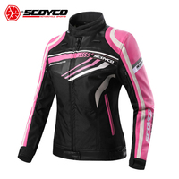 SCOYCO Motorcycle Jacket Summer Women's Motorcycle Leather Jackets Waterproof Cross country Motorcycle Riding Downhill Clothes