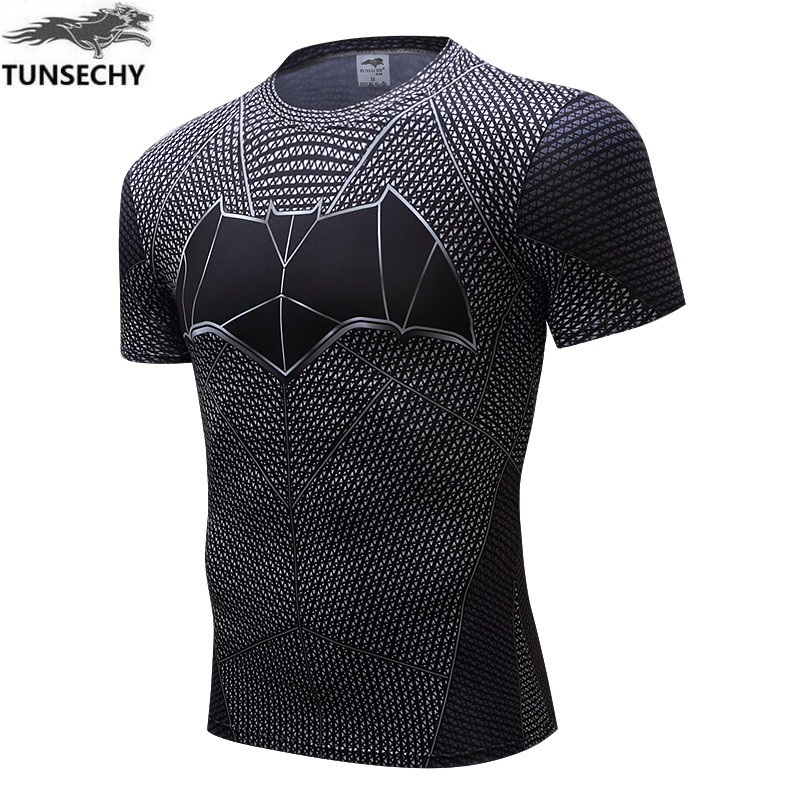 TUNSECHY Captain America T Shirt 3D Printed T-shirts Men Avengers iron man Civil War Tee Fitness Clothing Male Crossfit Tops