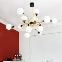 Современная стеклянная люстра для столовой индивидуальный гостиная спальня проход ресторан светодио дный LED Bubble Круглая Люстра лампы