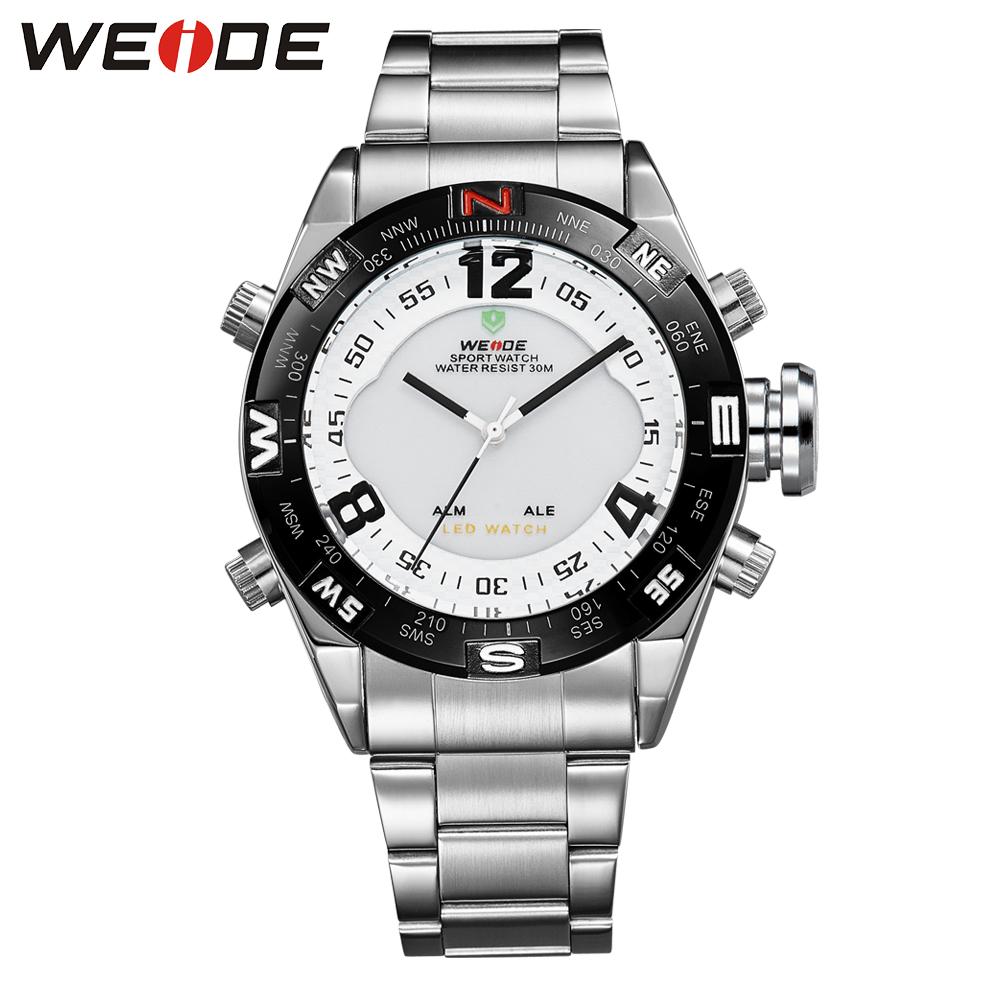 weide  clock men watch luxury brand watch sport in sports stainless steelin quartz Men's watches waterproof fashion casual relog bering ceramic 32035 442