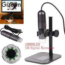 Buy Gizcam 8 LED 50X-1000X USB Digital Microscope Endoscope Microscopio Magnifier Camera w/ Stand