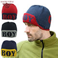 New Winter Hats Hip Hop Stripe Slouchy Baggy Beanies Skullies Knitted Caps Letter Boy Cute Hat Adult Sport Hat For Unisex