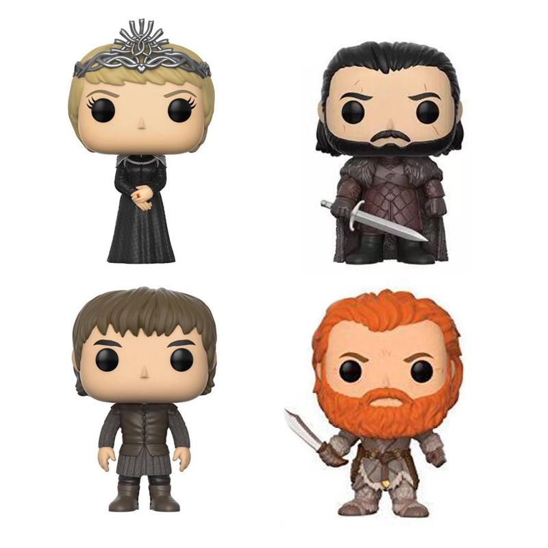 Game of thrones Character Jon Snow Cersei Lannister Bran Stark Tormund 10cm PVC figure Vinyl Doll Toys game of thrones jon snow wigs black curly synthetic hair