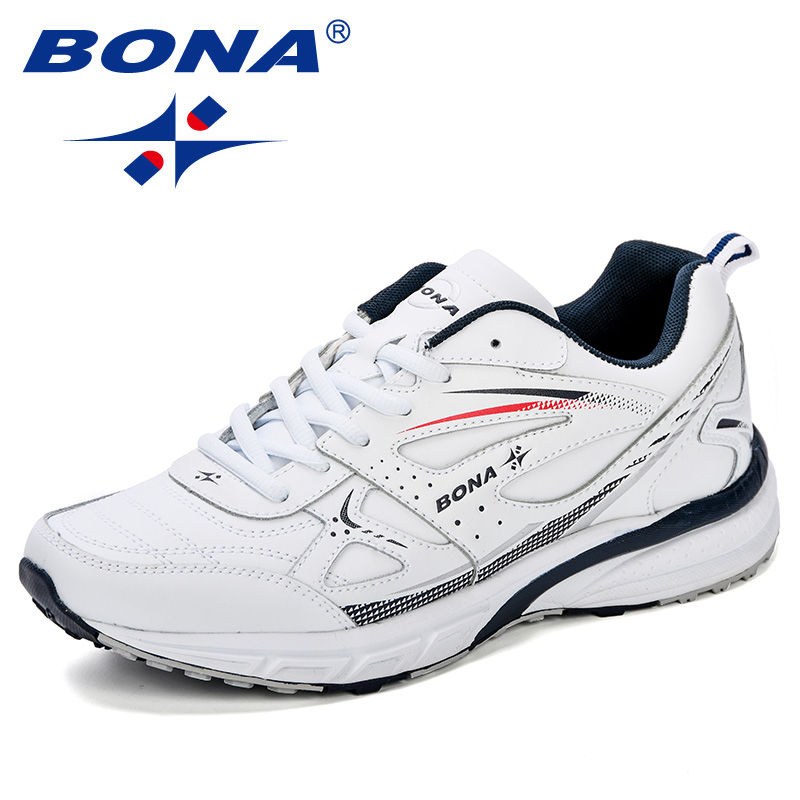 BONA New Style Running Shoes For Men Sneakers Zapatillas Hombre Sport Shoes Male Trainers Cow Split
