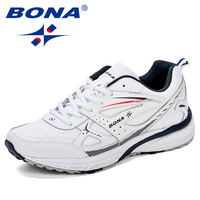 BONA New Style Running Shoes For Men Sneakers Zapatillas Hombre Sport Shoes Male Trainers Cow Split Athletic Outdoor Men Shoes