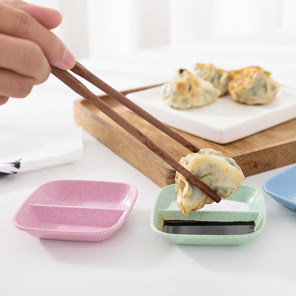 1 Pcs Baru Gandum Jerami Bumbu Hidangan Multi-Tujuan Drain Hidangan Melahirkan Saus Cuka Peralatan Makan Piring Makan Masakan Kuah peralatan Makan