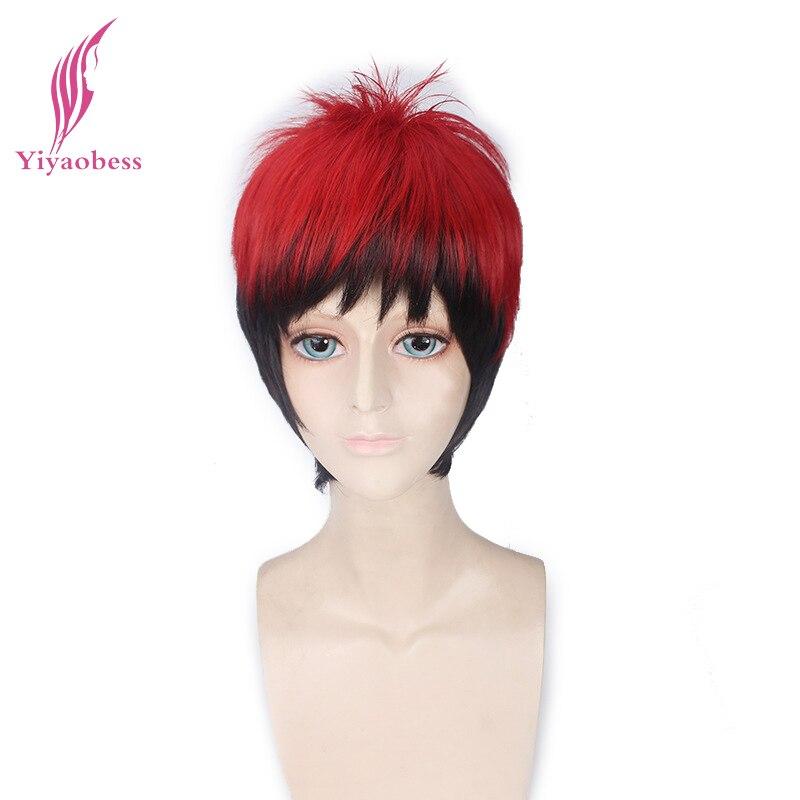 Yiyaobess последние игры Кагами Тайга парик Косплэй короткие прямые красные, черные Ombr ...