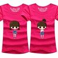 Una Pieza Mejor Amigo Camisetas Ropa Amigo Del Alma 95% Tops de algodón de Dibujos Animados Chica Azul Camisetas Señora Joven Dulce Hermanas camisas