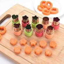 3Pcs Cake Cookies Cutter Bloemvorm Mold Plantaardige Wortel Fruit Cut Mold Komkommer Deeg Bakken Tool Keuken Diy Voedsel mes