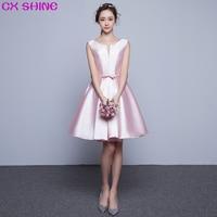 CX SHINE Custom color size Pink Elegant short evening dresses prom party gown De Festa Festival dress woman plus size vestido