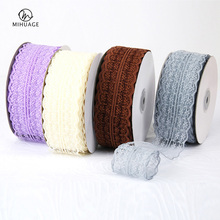MiHuaGe 1Pcs 4cm Lace Ribbon Handmade DIY Decorative Packaging For Florist Flowers Wedding Party Gift Wrapping