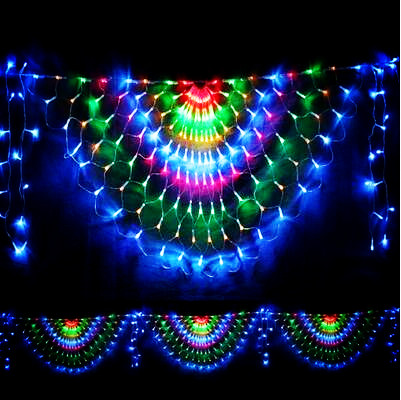 3x0.5m LED Christmas Lights Outdoor Garlands Decoration Peahen LED Net String Fairy Cristmas Lights Luces De Navidad cancion de navidad