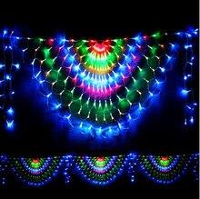 3x0.5m Светодиодные рождественские огни Наружные гирлянды Украшение Peahen LED Net String Fairy Cristmas Lights Luces De Navidad
