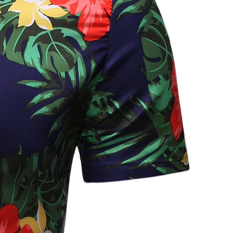 Social Shirt Dress Short Sleeve Beach Casual Casual Blouse Men Summer Hawaiian Floral Shirt For Men Leisure New