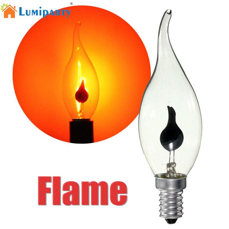 LumiParty 3 Watt E14 Edison Kerze Glhbirne Feuer Flamme Gekippt Wolframdraht Decor LampeChina