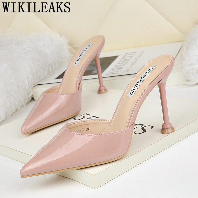 half <font><b>shoes</b></font> for <font><b>women</b></font> super <font><b>high</b></font> <font><b>heels</b></font> <font><b>slippers</b></font> <font><b>shoes</b></font> <font><b>woman</b></font> <font><b>sexy</b></font> pointed toe <font><b>high</b></font> <font><b>heels</b></font> mules <font><b>shoes</b></font> <font><b>women</b></font> pumps <font><b>women</b></font> <font><b>shoes</b></font> buty image