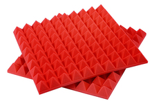 [ Fly Eagle ] 12Pcs 50cm X 5cm Red Soundproofing Acoustic Sound Treatment Studio Room Absorption Wedge