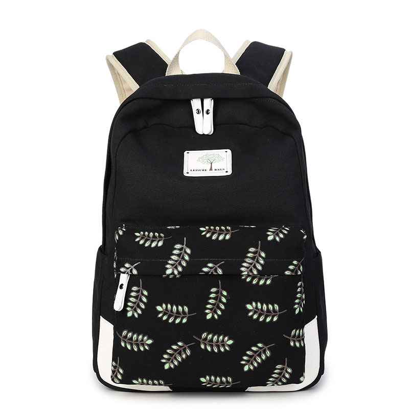 Printing Backpack Canvas Feminine Backpack Teenage Fashion Backpacks for Teen Girls Children's Back To School Bags for Teenagers