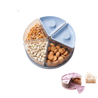 Snacks Fruit Divided Storage Boxes Food Sealed Case Tidy Storing Organizer Home Kitchen Orginization Accessories Supplies