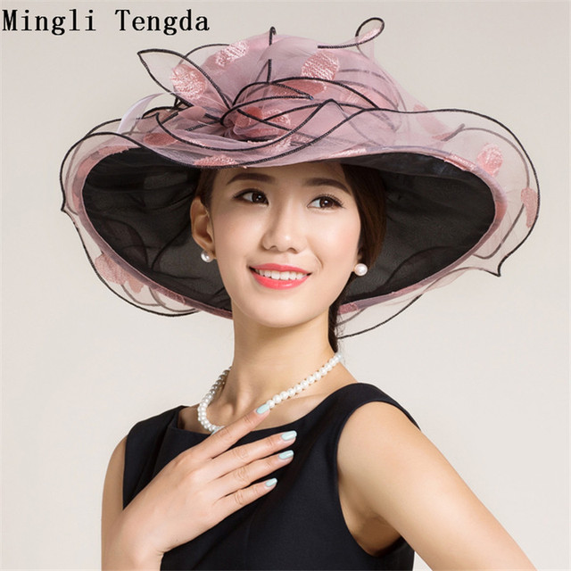 Mingli Tengda Wedding Hat Bride Exaggerated Feather Big Hat Wedding  Accessories Hair Bride Fascinators for Women Elegant 2018 f9323981d2f