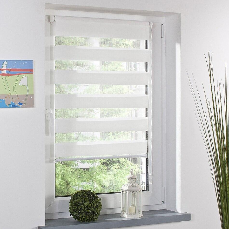 Semi Shade Stripe Roller Blindswindow Curtain Door Glass