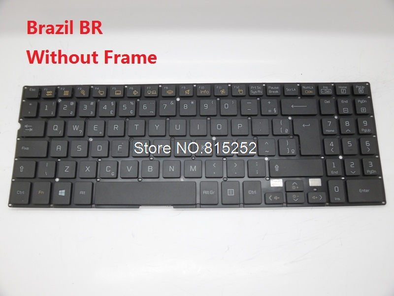 Laptop Keyboard For LG 15N540 SN5840 SG-59030-40A/SN5840 SG-59030-XRA Black Without Frame Korea KR BR Brazil f gattien 10127 112ч