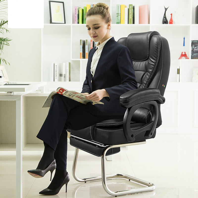 Genuine Leather Office Chair Home Bow Foot Computer Chair Lifting Swivel Gaming Chair Reclining Silla Oficina Cadeira Gamer