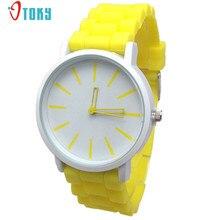 Многоцветный модные классические кварцевые часы желе Для женщин Для мужчин студентов платье часы Творческий Apr14