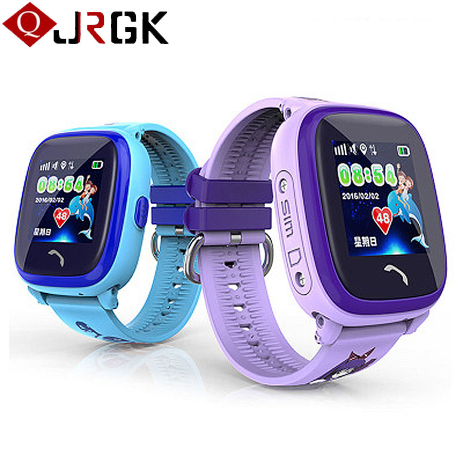 DF25 GPS Kids Smart Watch For IOS Android Calling Watches Waterproof Swim Baby Smartwatch Anti-Lost Monitor Children Wristwatch