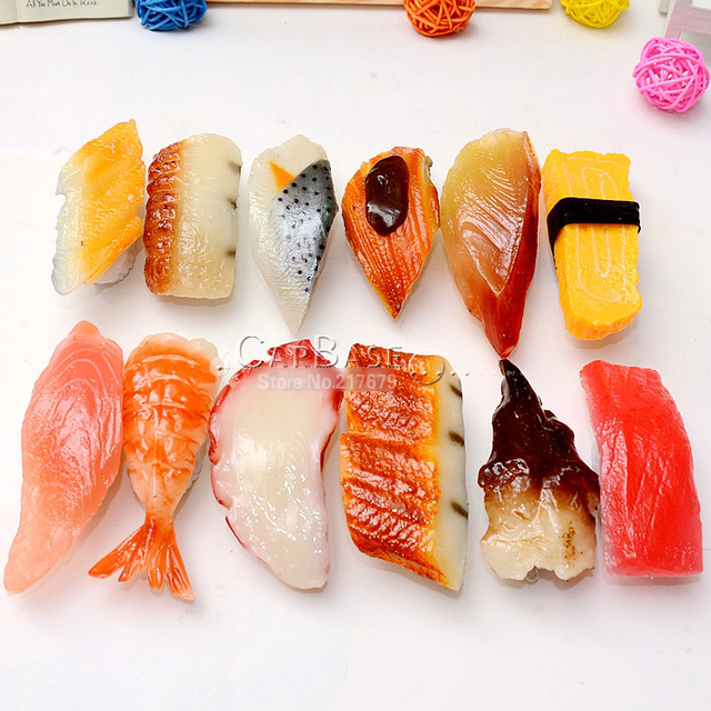 US $59 0 |30pcs Japanese sushi refrigerator magnets 7 8cm High goog  simulation gift mix color wholesale-in Gags & Practical Jokes from Toys &  Hobbies