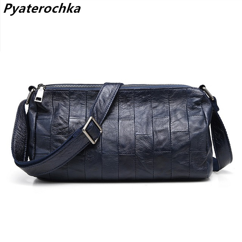 Pyaterochka Crossbody Small Bag Woman Genuine Leather Luxury Messenger Hand Bags Famous Brand Casual Patchwork Ladies