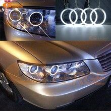 Hyundai azera için 2006 2007 2008 2009 2010 Mükemmel melek gözler Ultra parlak aydınlatma CCFL Angel Eyes kit Halo Yüzük