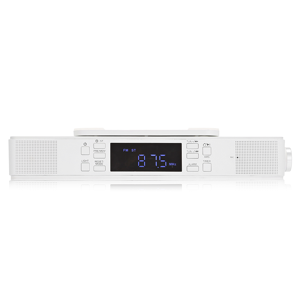 BTS 23 Under Cabinet Bluetooth Kitchen Stereo Speaker With LED Lights MIC Cooking  Timer Digital