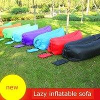 Saco de dormir saco de praia preguiçoso preguiçoso sofá inflável sofá inflável cama Dobrável portátil Ao Ar Livre