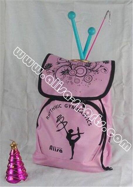 Лидер продаж ритмической Гимнастика сумка Алисса Алиса специальные гимнастическое рюкзак Гимнастика инструмент мешок розового и фиолетового цветов Цвета t-b03