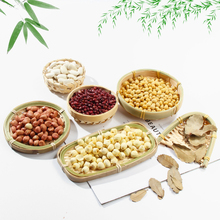 High Quality Bamboo Basket Vintage Handmade Dustpan Cage DIY Fruit Food Plate for Multi Function Photography Studio Props