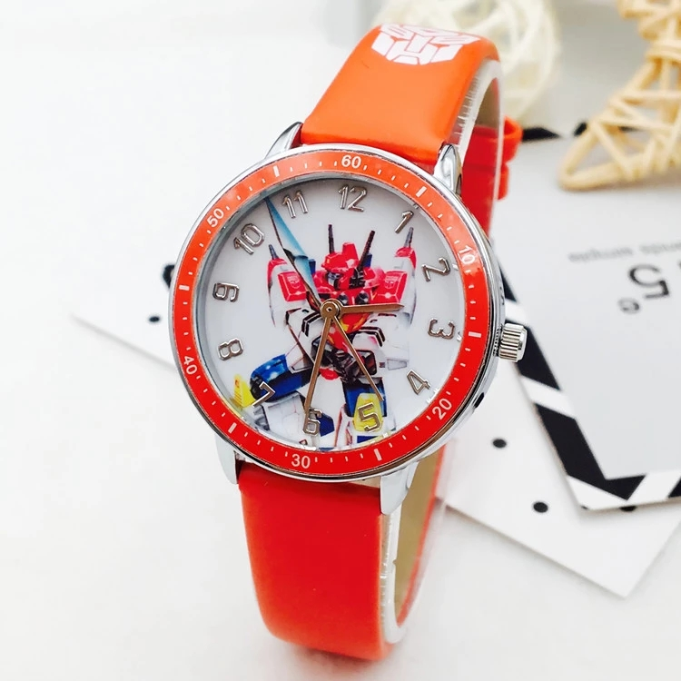 Children Belt Watch Boy Boy Electronic Waterproof Watch Cartoon Transformers Primary School Boy Quartz Watch