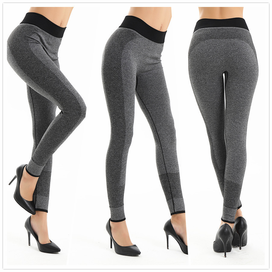 Yoga pant sports wear for women gym Woman Outdoor leggins Sport pants femme Run High waist Elastic Nine Part leggings fitness image