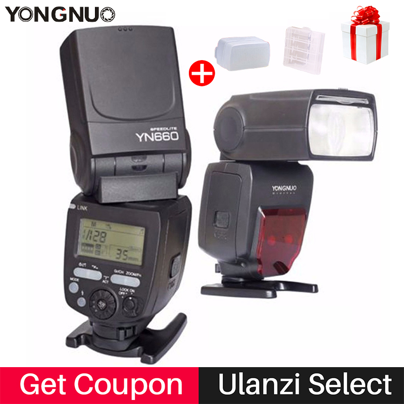 YONGNUO YN660 YN 660 Flash Speedlite GN66 2.4G Wireless Radio Master Slave Transceiver Integrated for Canon Nikon Olympus