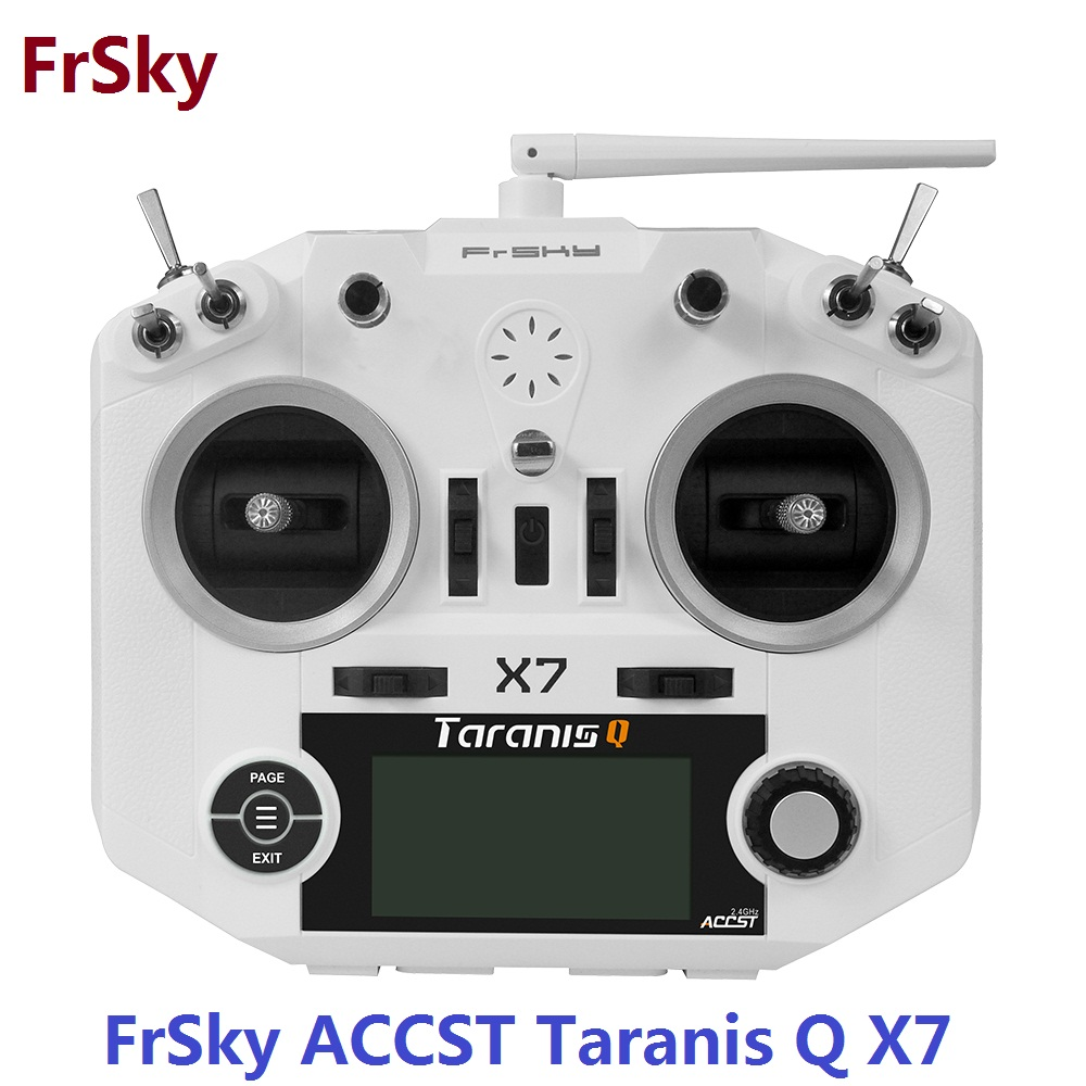 Transmetteur FrSky ACCST Taranis Q X7 QX7 2.4 GHz 16CH sans récepteur et Mode batterie 2 pour Multicopter RC