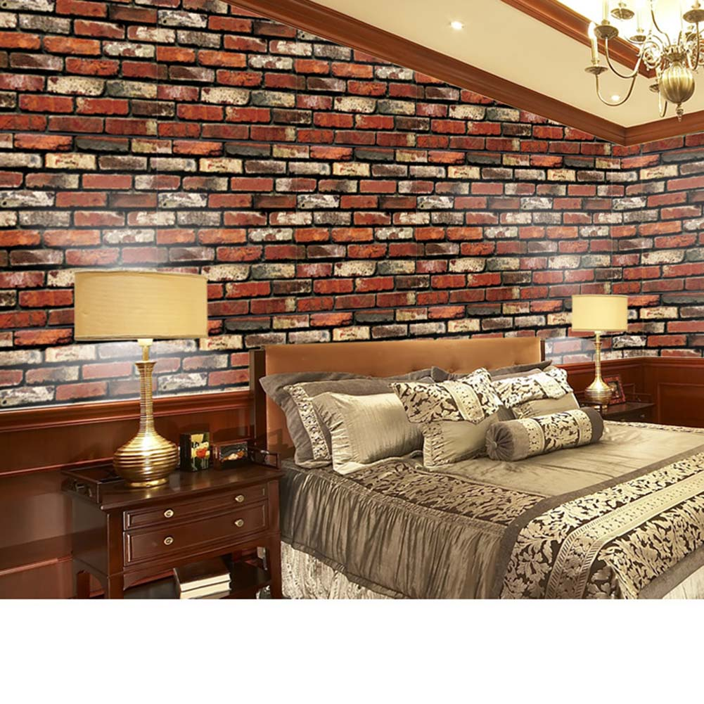 Wall Sticker PVC Removable 3D Brick Decal Waterproof Decoration For Living Room Home E2S