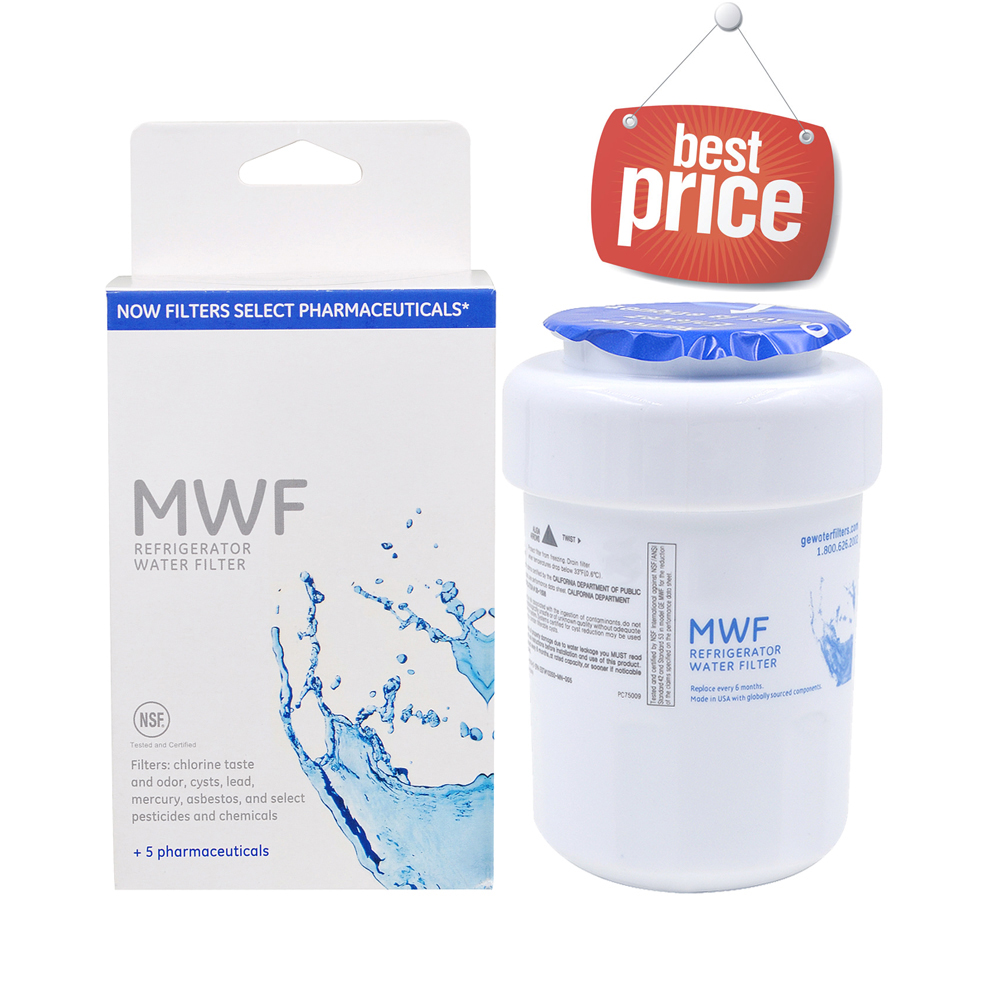 Household Best Water Filter General Electric MWF Smartwater Refrigerator Water Filter Cartridge Replacement for GE MWF