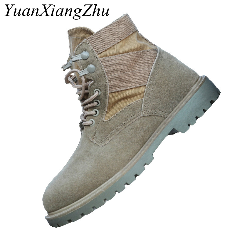 Men Ankle Martin Boots Spring/Autumn Military Work Boots Breathable Mens Canvas Desert Boots Fashion High Help Casual Male Shoes