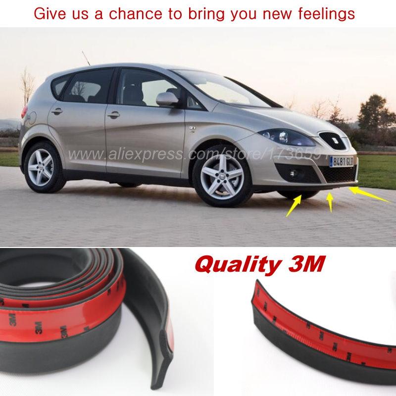 Car Bumper Lip For SEAT Altea 2004~Onwork / Make car lower Body Kit / Front / Rear Skirt Spoiler / Bumper Deflector Rubber Strip стоимость
