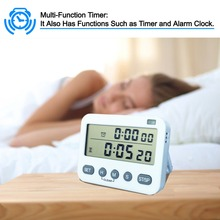 Kitchen Timer Cooking Timer Digital Clock Timing and Countdown Function Device White цена